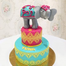 Gâteau Elephant Bollywood