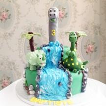 Gâteau Dinosaures Jungle