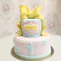 Gâteau Noeud et Fleurs