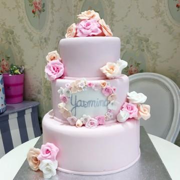 Gâteau Naissance Fleurie