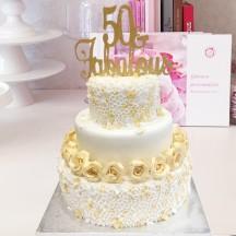 Gâteau Couture Fleurs