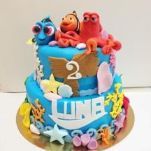 Gâteau Nemo, Dory bébé et Hank