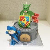 Gâteau Chevalier et Dragon