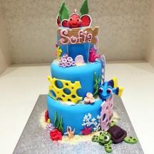 Gâteau Nemo, Bébé Dory et Bébé Tortue PM