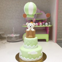 Gâteau Ourson Montgolfière