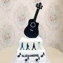Gâteau Guitare & Beatles