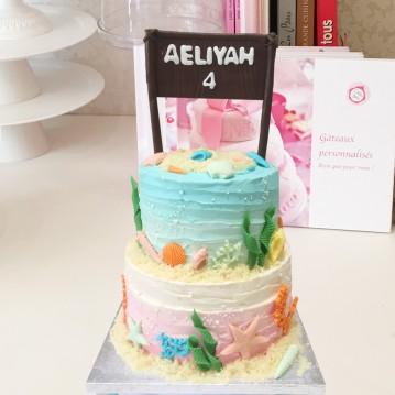 Gâteau Tropique Plage