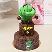Gâteau Hulk Tête et Poing