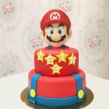 Gâteau Mario Bros à plat