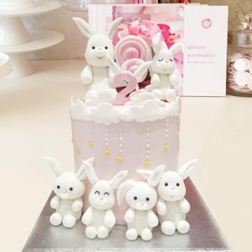 Gâteau Famille de Lapins