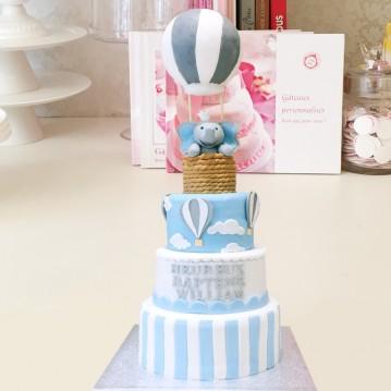 Gâteau Elephant Montgolfiere