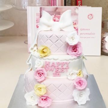 Gâteau Piece Montée Fleurs de Printemps