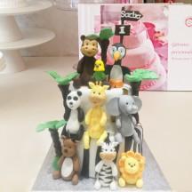 Gâteau Animaux Jungle Maxi