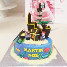 Gâteau Pirate Coffre et Barque