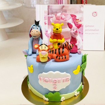 Gâteau Winnie et ses amis , Debogato Paris