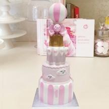 Gâteau Elephant Montgolfiere et Nuages