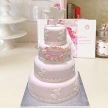 Gâteau Baptême Colombe 2D