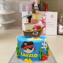 Gâteau Pirate Bateau et Ile