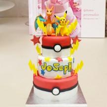 Gâteau Pokemon Dracofeu et Pikachu