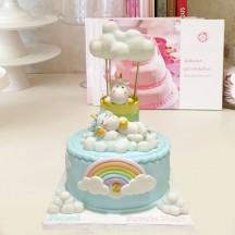 Gâteau Licornes Montgolfiere