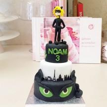 Gâteau Chat Noir