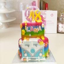 Gâteau Hippie Sixties