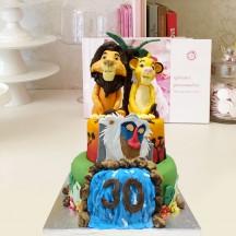 Gâteau Mufasa, Simba et Rafiki