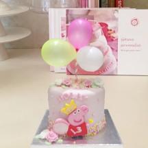 Gâteau Peppa Pig et Ballons