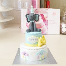 Gâteau Baby Shower Elephant Nuages