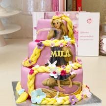 Gâteau Raiponce et sa natte