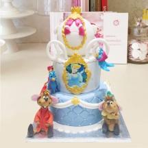 Gâteau Cendrillon carosse et ses souris