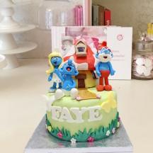 Gâteau Schtroumpfs et Maison