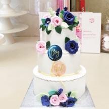 Gâteau Gender Reveal fleurs