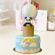 Gâteau Panda montgolfiere