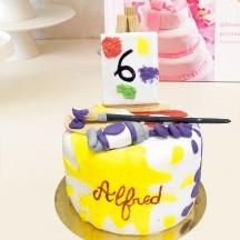 Gâteau Peintre 2