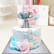 Gâteau Gender Reveal Elephant