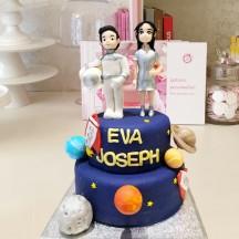 Gâteau Astonaute et AstroGirl