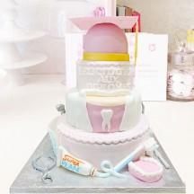 Gâteau Dentiste Diplome