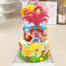 Gâteau Poppy et Fleurs