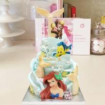 Gâteau Petite Sirene Vague et impression