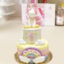 Gâteau Licorne Petit Modele Multicouleurs