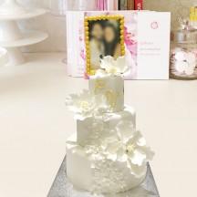 Gâteau Portrait et Fleurs