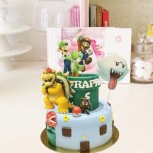 Gâteau Mario Bros Personnage 2D