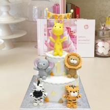 Gâteau Animaux et Fanions