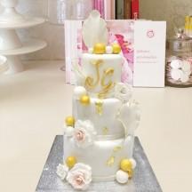 Gâteau Rose et Pétales