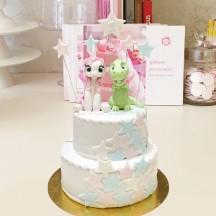 Gâteau Licorne et Dino