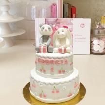 Gâteau Panda et Lapin Cerise