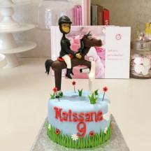 Gâteau Equitation-saut d'obstacle