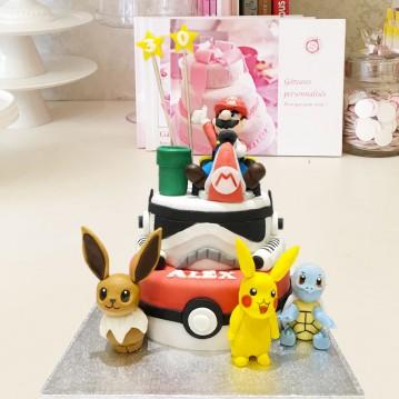 Gâteau Mix Mario, Star Wars, Pokemon