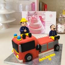 Gâteau Camion de Pompier et Pompiers